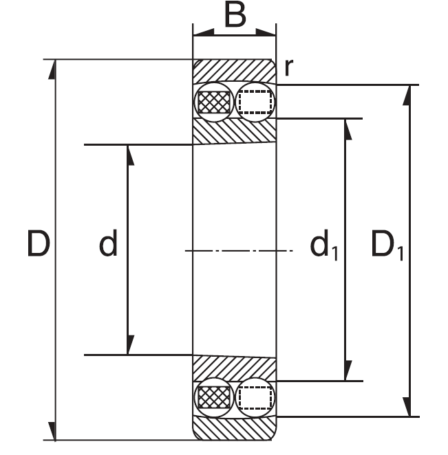 double row aligning drawing